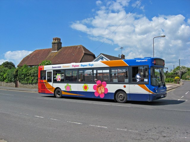 Stagecoach bus. no. 33813 on Route 60 in Pagham Road