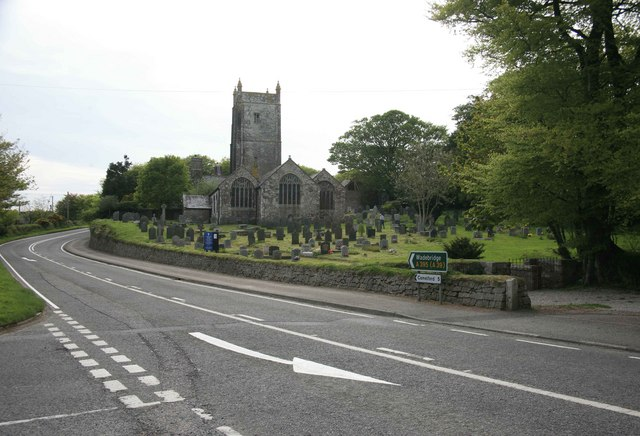 Davidstow church by the main road