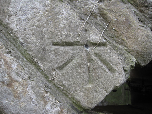 1GL bench mark and bolt on old Cowan Bridge