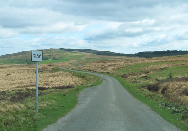 Passing place on a minor road near Gatehouse of Fleet