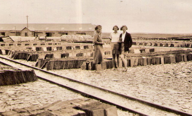 Delabole slate yard 1935
