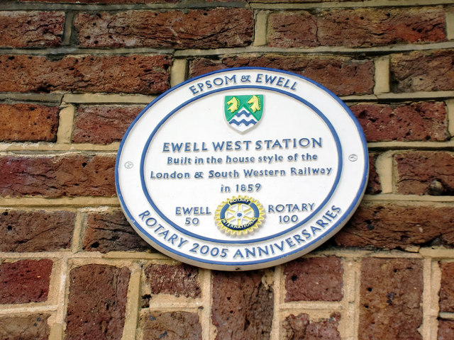 Commemorative Plaque, West Ewell Station