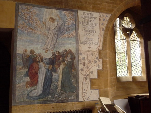 Inkpen: wall painting, St. Michael�s church