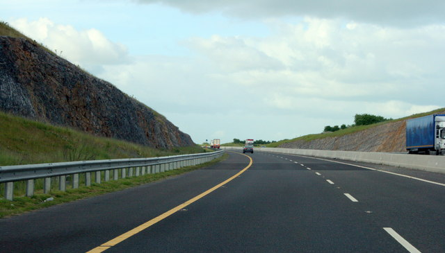Through a cutting on the M8, County Tipperary