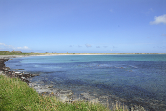 View East along beach of Sty Wick, Sanday