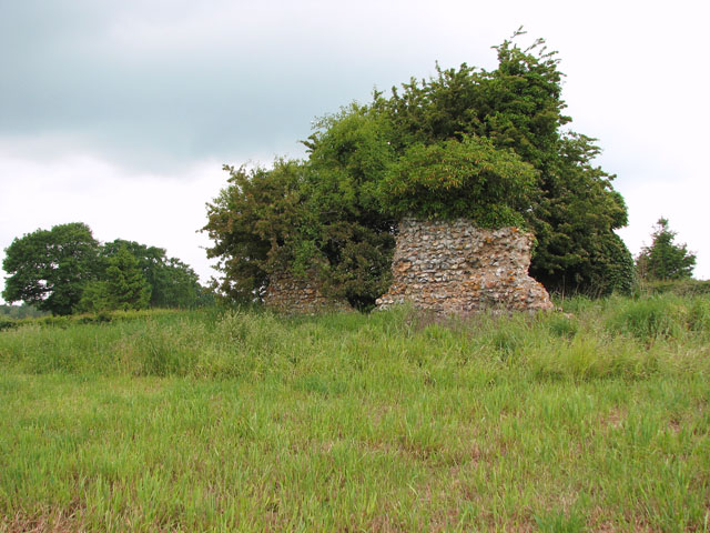 The ruins of St Andrew's church