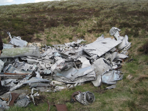 Wreckage of De Havilland Venom