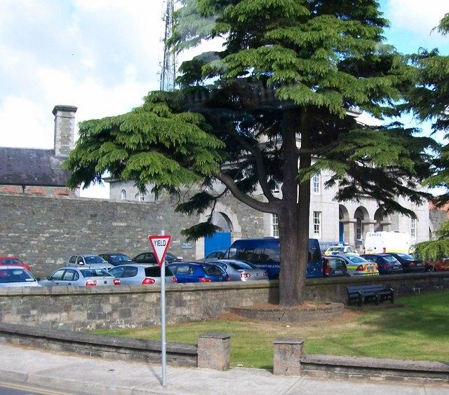 Official car park at Dundalk Garda Station