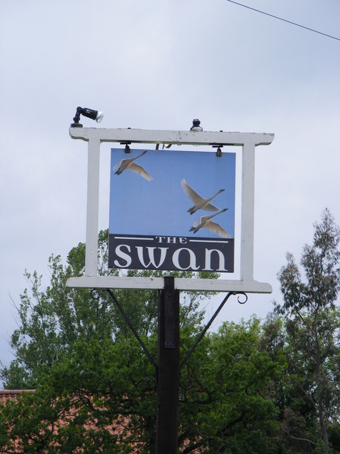 The Swan Inn Public House sign, Worlingworth