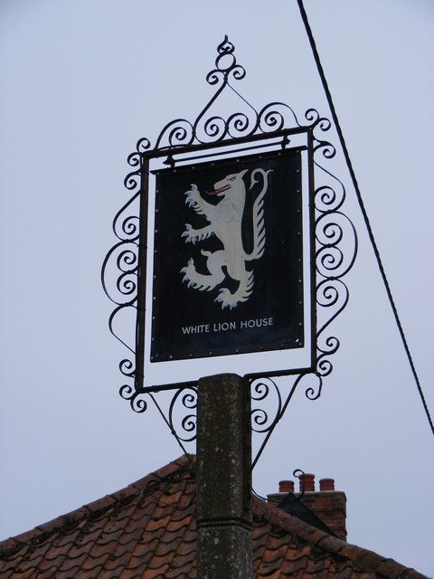 White Lion House sign