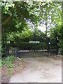 TM3372 : Heveningham House Gates by Adrian Cable