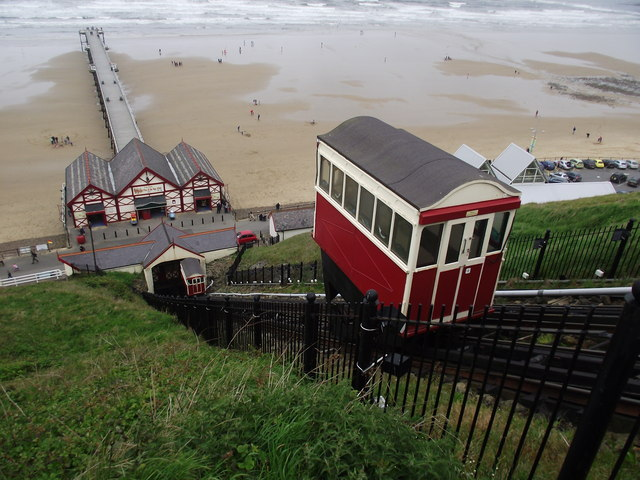 Saltburn Cliff Lift And Pier