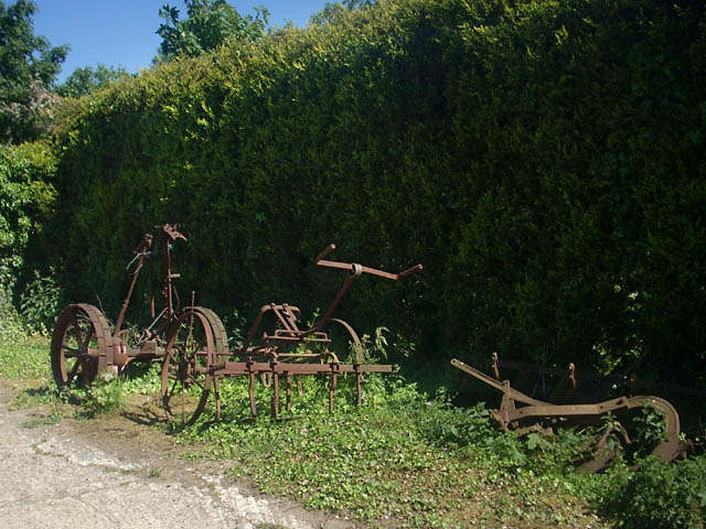 Redundant, horse-drawn agricultural equipment