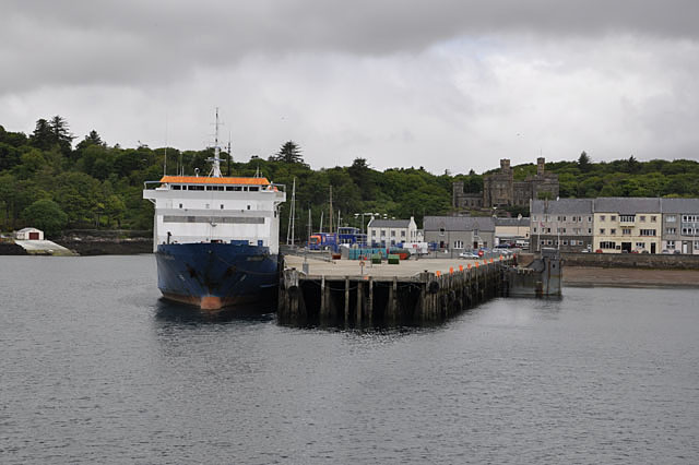 Stornoway from the ferry.
