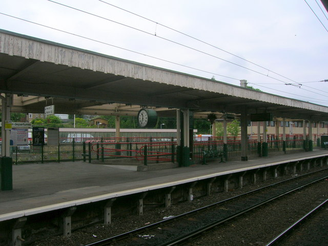 Platform at Carnforth Railway Station
