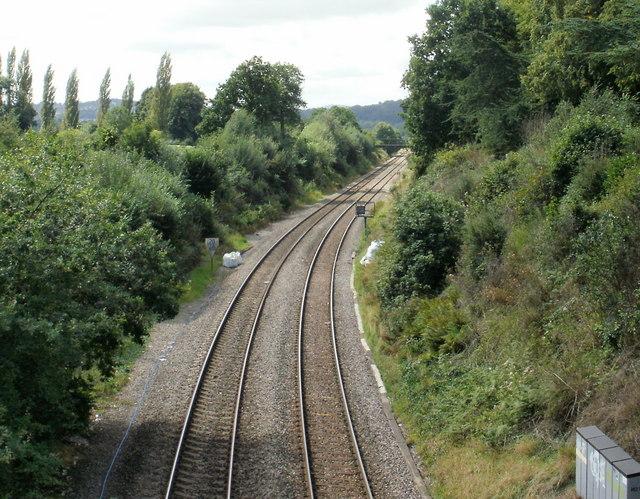 Caerleon : railway heading for Newport