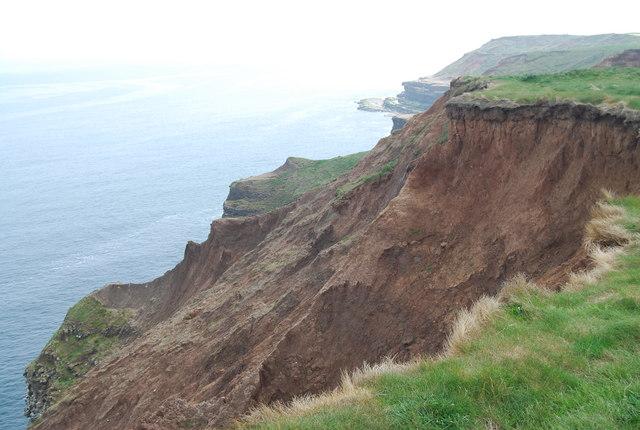 Boulder clay Cliff near Filey Brigg