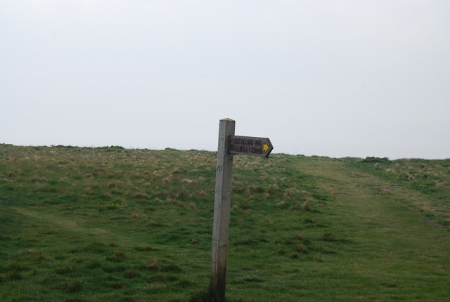 The first finger post on the Cleveland Way