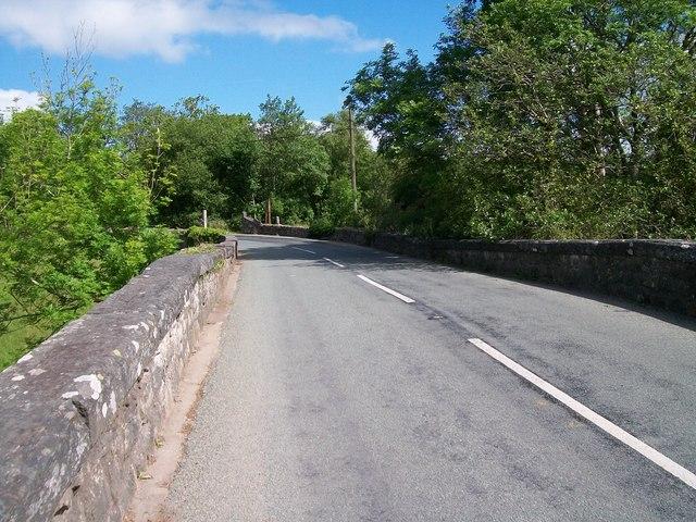 View northwards across Pont Rhyd-y-benllig