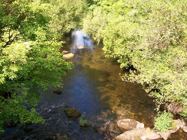 Afon Dwyfor above Pont Rhyd-y-benllig