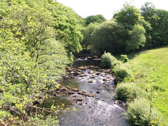 Afon Dwyfor below Pont Rhyd-y-benllig