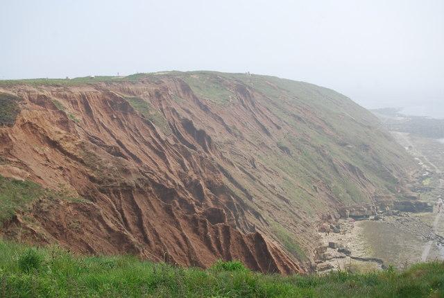 Badlands topography, Filey Brigg