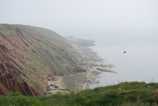 The southern side of Filey Brigg