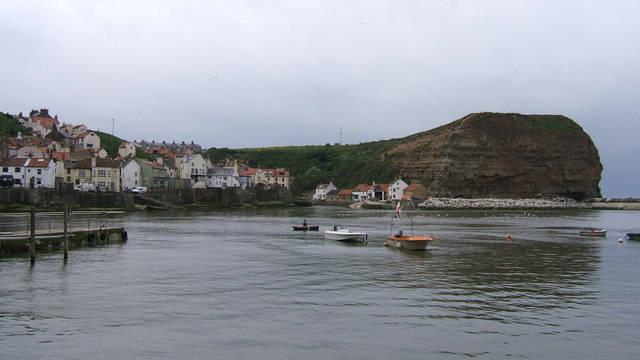 Entrance to Staithes harbour area