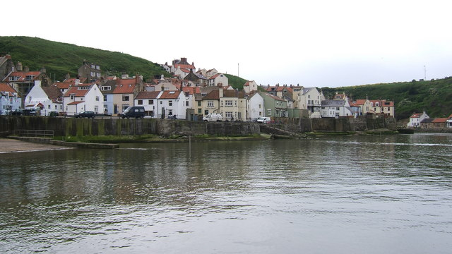 Cottages at Staithes harbourside