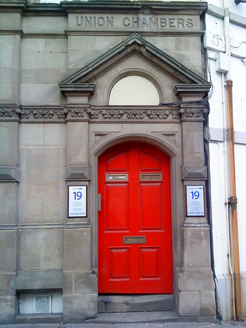 Doorway to Union Chambers