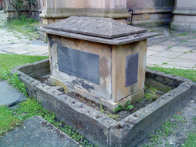 Tomb in the churchyard at St. Mary's, Nottingham