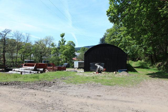 Wood yard at Achranich