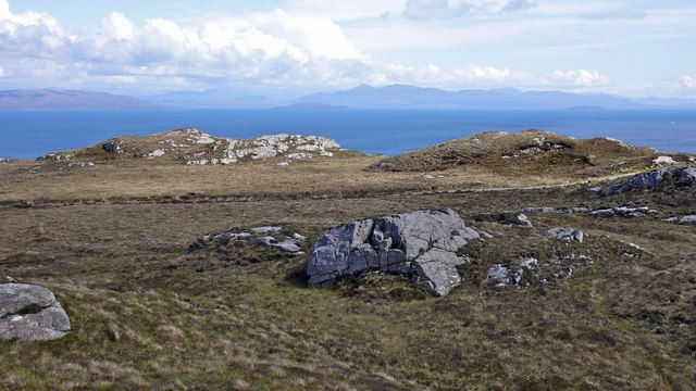 Granite outcrops on the moorland north west of Brochel, Raasay