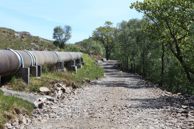 Estate track from Achranich to Loch Teàrnait