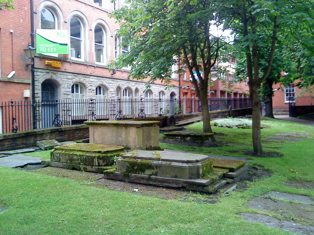 Tombs in the churchyard at St. Mary's, Nottingham