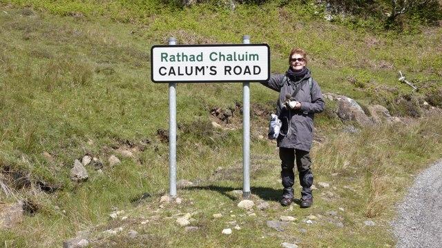 The start of Calum's Road at Brochel, Raasay