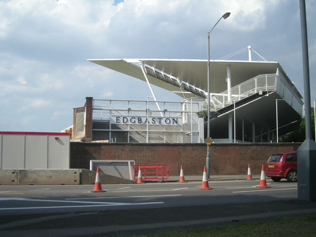 Edgbaston Cricket Ground in course of rebuilding