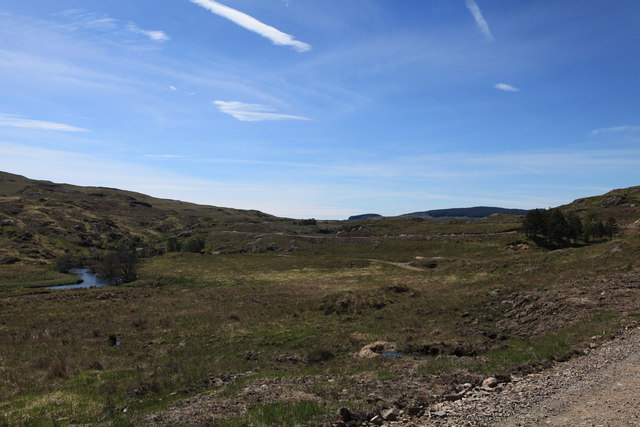 Track to Achranich and the river Rannoch