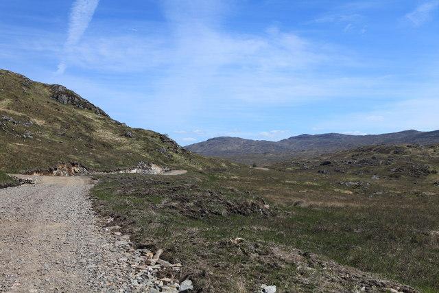 Estate track to Loch Teàrnait