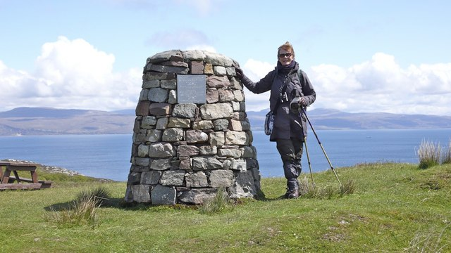 "Cairn celebrating the creation of ""Calum's Road"", Raasay"