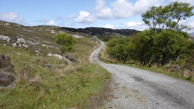 Callum's Road, Raasay, looking northwards