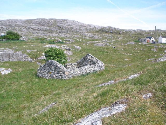 Ruined crofthouse Leac a' Li
