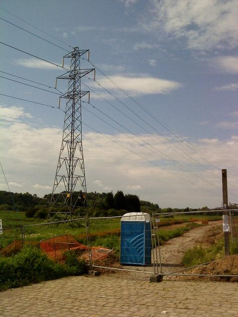 Pylons in Beeston Rylands