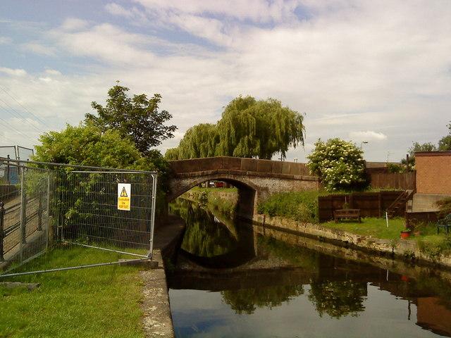Turnover bridge on the Beeston Canal