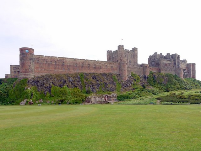 Bamburgh Castle from Castle Green