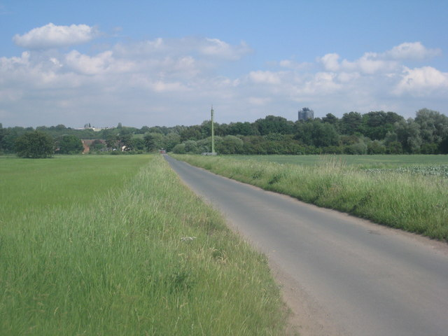 View looking eastwards along Brumby Common Lane