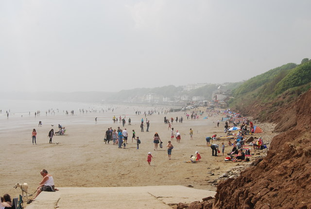 Busy Filey Beach