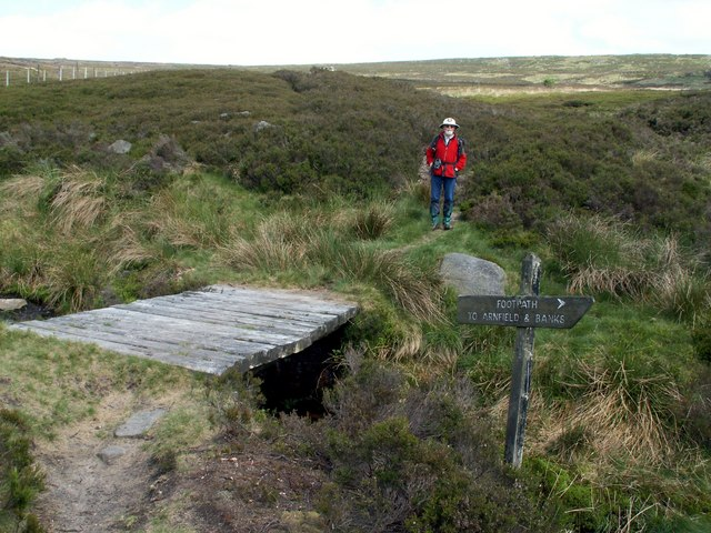 Ogden Brook footbridge to Ormes Moor