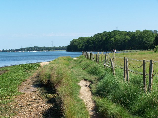 View along south bank of Test Estuary