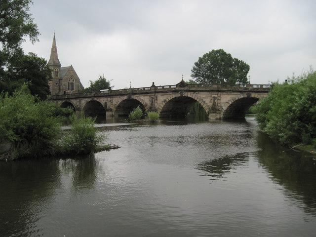 English  Bridge  and  River  Severn